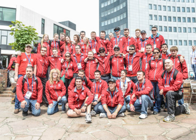 Team Canada in Leipzig Germany on the first day of the WorldSkills 2013 Competition (CNW Group/SKILLS/COMPETENCES CANADA)