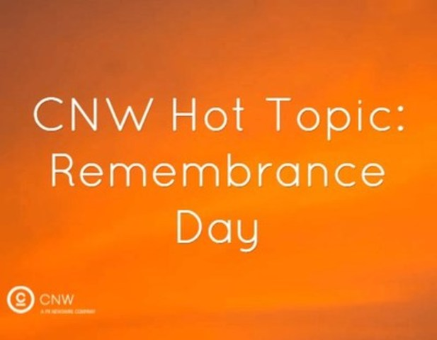 CNW Hot Topic: Remebrance Day (CNW Group/CNW Group Ltd.)