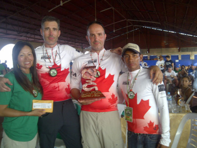 True North Rafting Team with first place trophy, medals and cash prize. (CNW Group/Harris + Harris LLP)