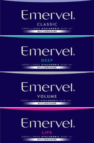 La gamme d'agents de comblement EMERVEL®. (Groupe CNW/Galderma Canada)