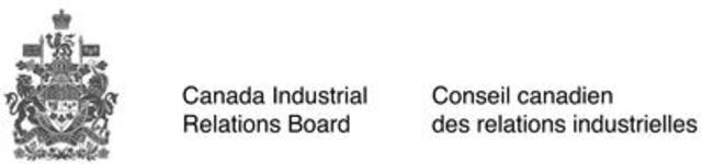 Logo : CIRB/CCRI (CNW Group/Canada Industrial Relations Board)