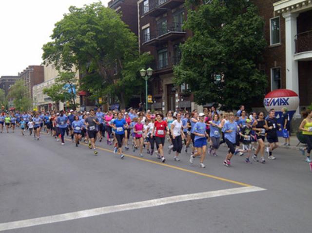 La première course de 5 kilomètres était composée d'adultes et d'enfants. (Groupe CNW/Communiqués Montréal)