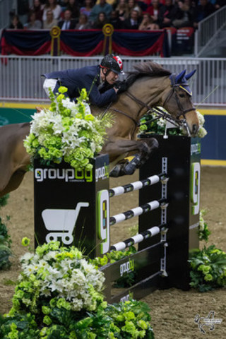Ian Millar of Perth, ON, won the $100,000 Greenhawk Canadian Show Jumping Championship riding Dixson on Saturday, November 5, at the Royal Horse Show in Toronto, ON. Photo by Ben Radvanyi Photography (CNW Group/Royal Agricultural Winter Fair)