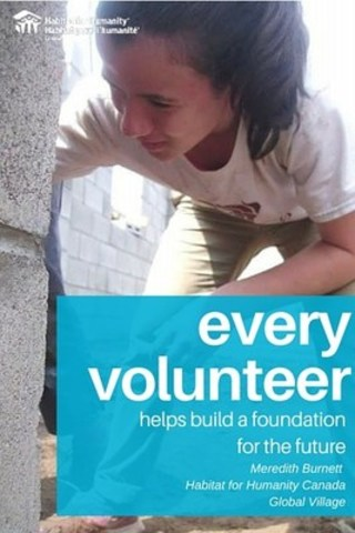 15-year-old Meredith Burnett from Ottawa is Habitat for Humanity Canada Global Village's 15,000th ...