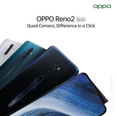 OPPO ترتقي بآفاق التصوير عبر الهاتف المتحرك بإطلاق سلسلة هواتف Reno2 المزودة بأربع كاميرات