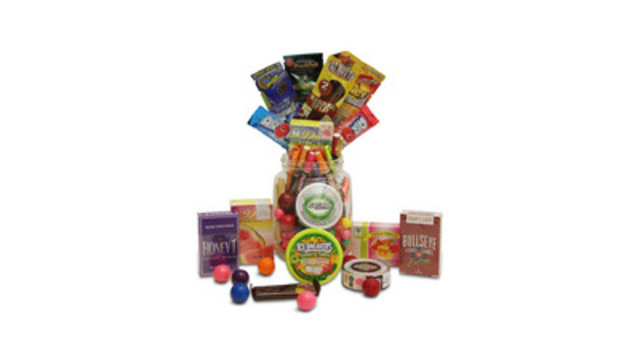 A sample of the kinds of candy-flavoured tobacco products marketed to youth. (CNW Group/Canadian Cancer Society (Ontario Division))