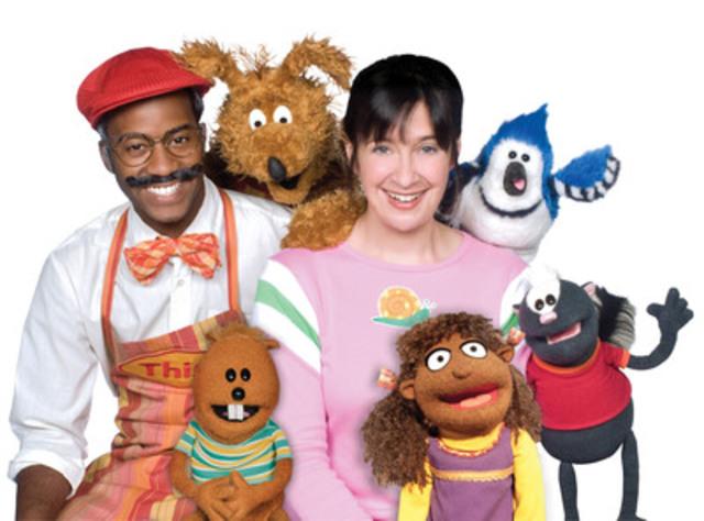 The cast of Gisèle's Big Backyard, TVOKids' preschool programming block. (CNW Group/TVO)