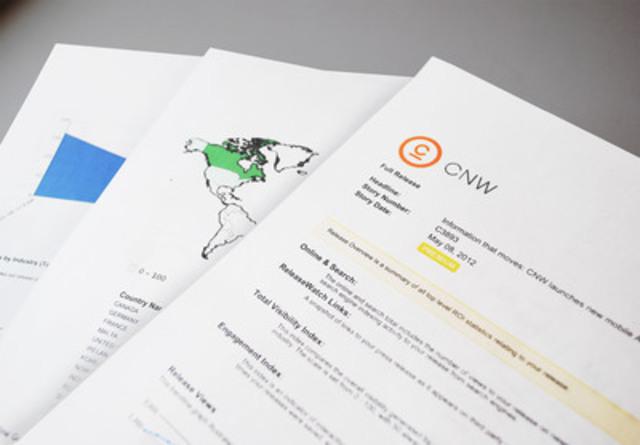 Obtenez vos données dans un format que vous pouvez utiliser. Vous pouvez consulter des aperçus du rendement de vos communiqués selon une période de temps que vous fixez, incorporer des tableaux dans des rapports pour illustrer l'impact de votre nouvelle et télécharger vos résultats dans divers formats pour qu'ils puissent être facilement partagés. (Groupe CNW/Canada NewsWire Ltée)