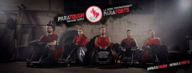 Wheelchair rugby players Cody Caldwell, Miranda Biletski,  Zak Madell, Trevor Hirschfeld and Patrice Dagenais are featured in the ParaTough Training Series, the first workout series led entirely by Canadian Paralympians. Photo Credit: CPC/Tyler Gray/John Stevancec/Westside Studio (CNW Group/Canadian Paralympic Committee (CPC))