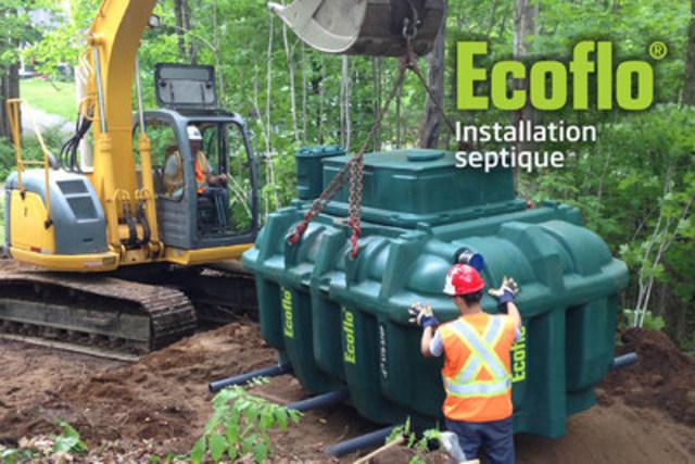 Ecoflo installation septique (Groupe CNW/Premier Tech)