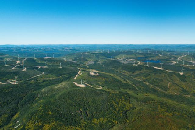 Parcs éoliens de la Seigneurie de Beaupré (Groupe CNW/Boralex inc.)