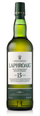 In celebration of its 200th anniversary Laphroaig is releasing Laphroaig 15 Year Old to the Canadian market in June 2015, for an approximate retail price of $185.95. (CNW Group/Beam Suntory Inc.)