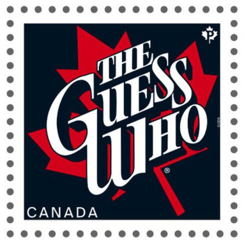 Ce timbre de la série consacrée aux artistes canadiens de la chanson met en scène The Guess Who (Groupe CNW/Postes Canada)