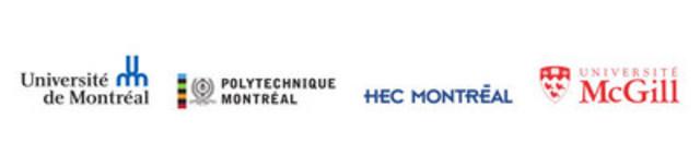 Logo : Université de Montréal; Polytechnique Montréal; HEC Montréal; Université McGill (Groupe CNW/Université de Montréal)