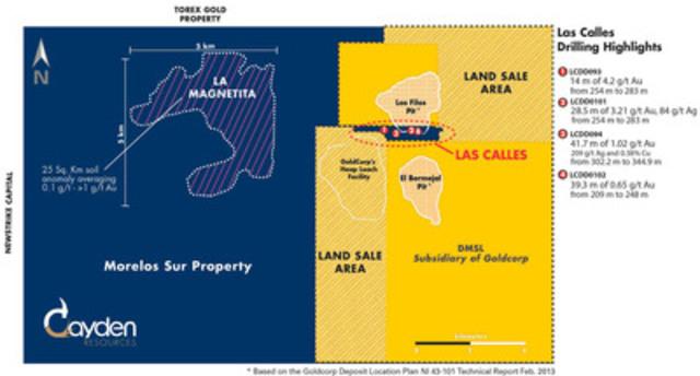 Figure 1 - Morelos Sur Land Sale Map (CNW Group/Cayden Resources Inc.)