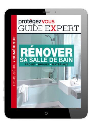 Le tout nouveau guide expert Rénover sa salle de bain, publié par Protégez-Vous et vendu exclusivement dans son application iPad (7,99 $), vise à accompagner les consommateurs, étape par étape, dans leur projet de rénovation. (Groupe CNW/Protégez-Vous)