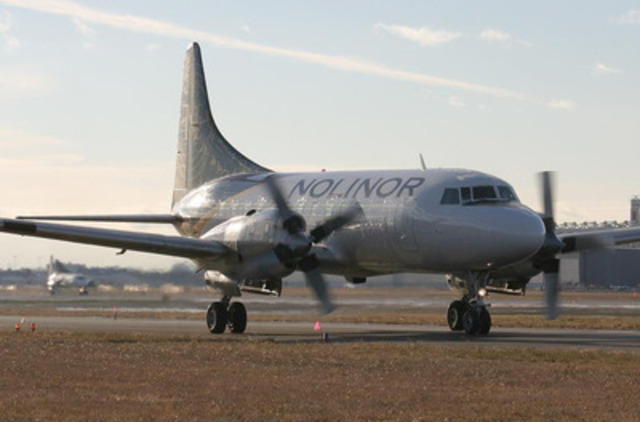 A Nolinor Aviation Convair 580 airplane. (CNW Group/Kitikmeot Air)