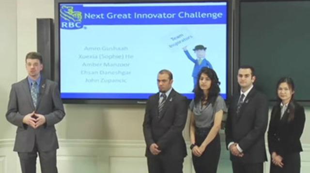 Vidéo : Voici l'équipe gagnante du défi Prochain grand innovateur 2012 de RBC : les « Inspirators » de l'Université de Waterloo.
