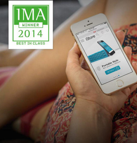 iStore grand gagnant aux Interactive Media Awards (Groupe CNW/Le Site)