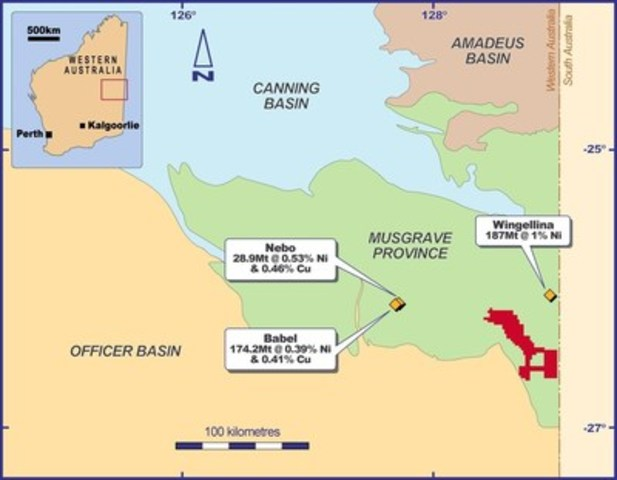 Figure 1 - Location of Latitude Hill Project (CNW Group/Chalice Gold Mines Limited)