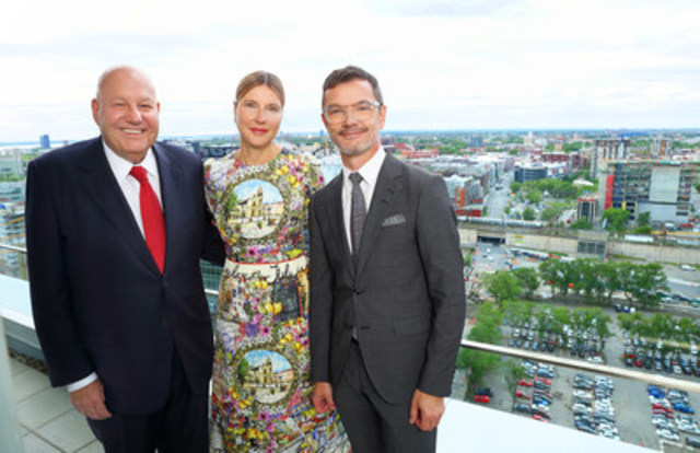 From left to right: Jean-Pierre Desrosiers, President of the Quartier de l'Innovation's board of director, Manon Brouillette, President and CEO of Videotron and Damien Silès, Executive Director, Quartier de l'innovation (CNW Group/Videotron)