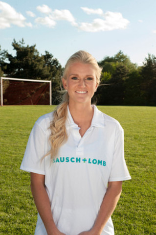 Kaylyn Kyle, member of the Women's National Soccer Team and Olympic & Pan Am medalist, is working with Bausch + Lomb to help parents of young athletes to focus on their performance both on and off the field. (CNW Group/Bausch + Lomb)