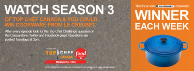 Watch & Win with Caesarstone! (CNW Group/Caesarstone Canada)
