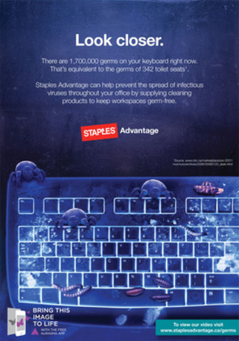 Any idea how many germs are lurking around your office? Hint: It's A LOT. (CNW Group/Staples Advantage Canada)