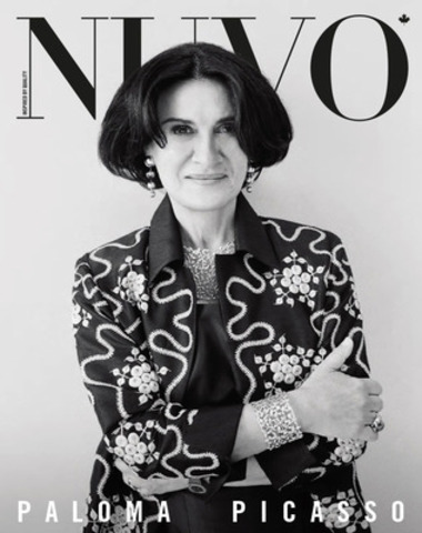 """I've always viewed my work as artistic because I'm doing an artistic endeavour, but I'm not what you would call purely an artist. I'm doing applied art,"" says Paloma Picasso, jewellery designer for Tiffany & Co. in the spring 2013 issue of NUVO, on newsstands February 25. www.nuvomagazine.com. (CNW Group/NUVO Magazine Ltd.)"