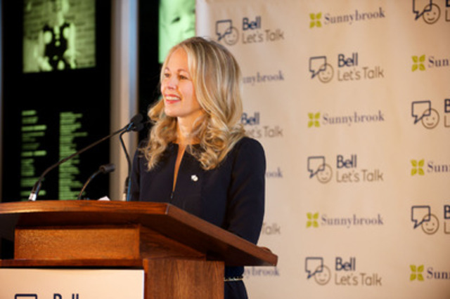 Mary Deacon - Chair, Bell Let's Talk mental health initiative (CNW Group/Sunnybrook Health Sciences Centre)