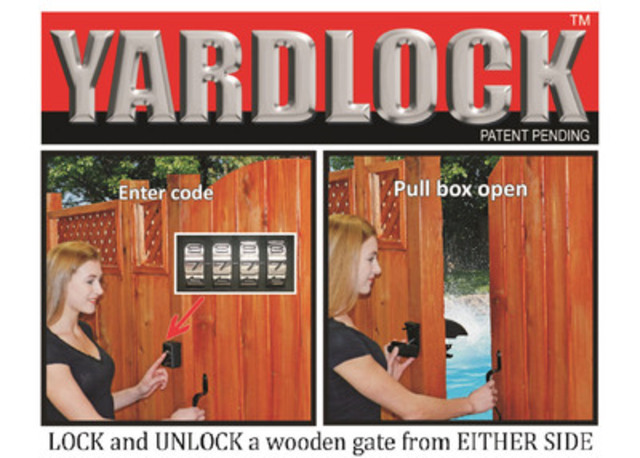 LOCK and UNLOCK a wooden gate from EITHER SIDE. (CNW Group/Swiss Electric Ltd.)