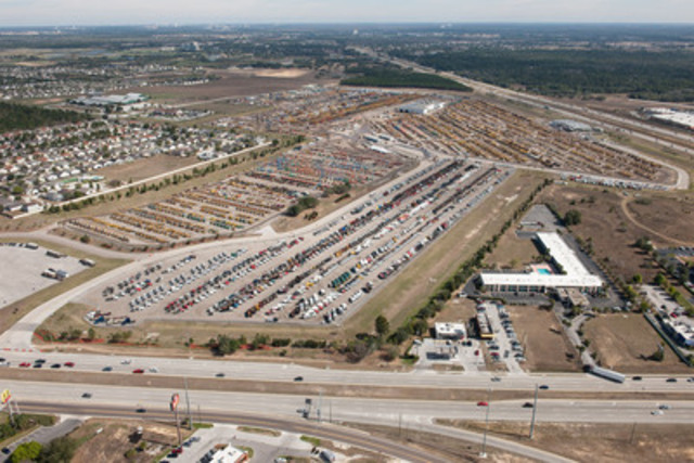 More than 10,000 heavy equipment items and trucks were sold over six days at Ritchie Bros.' record-breaking auction in Orlando, FL (February 13 - 18, 2012) (CNW Group/Ritchie Bros. Auctioneers)