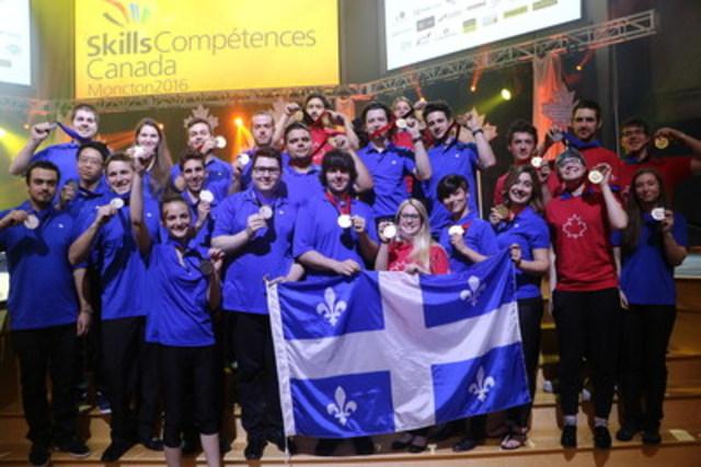 22es Olympiades canadiennes des métiers et des technologies (Groupe CNW/Compétences Québec)
