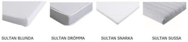 IKEA Canada Initiates Precautionary Recall on IKEA SULTAN Crib Mattresses (CNW Group/IKEA Canada)