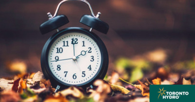 Clocks turn back an hour this weekend as Daylight Savings Time comes to an end. (CNW Group/Toronto Hydro Corporation)