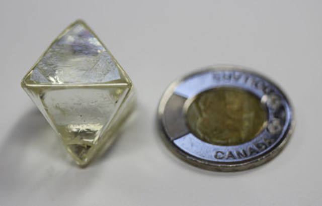 Diamcor 91.72 Carat Gem Quality (CNW Group/Diamcor Mining Inc.)