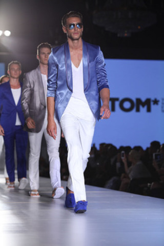A fresh and clean-cut finale walk at the Spring'15 collection by HD Homme at TOM*FW. (Photo credit: ...