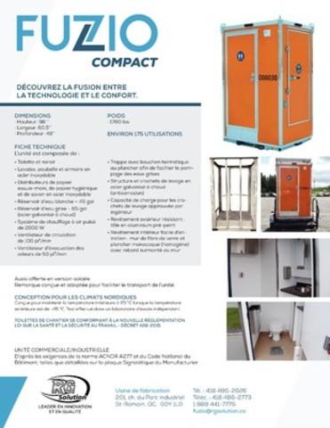 RG Solution inc. lance un tout nouveau concept avant-gardiste de toilette mobile (Groupe CNW/RG Solution inc.)