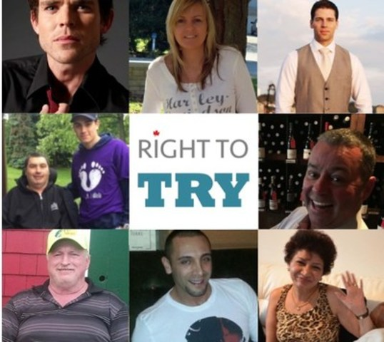 Terminally-ill patients, urge MP's for another option: the 'Right To Try' @RightToTryAct (CNW Group/Right To Try Canada)
