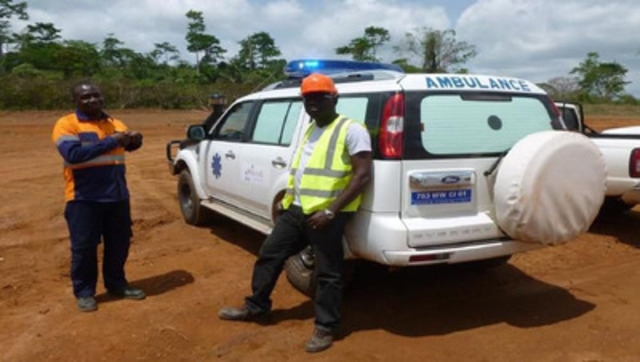 New Agbaou ambulance; full-time doctor and two nurses now on-site (CNW Group/Endeavour Mining Corporation)