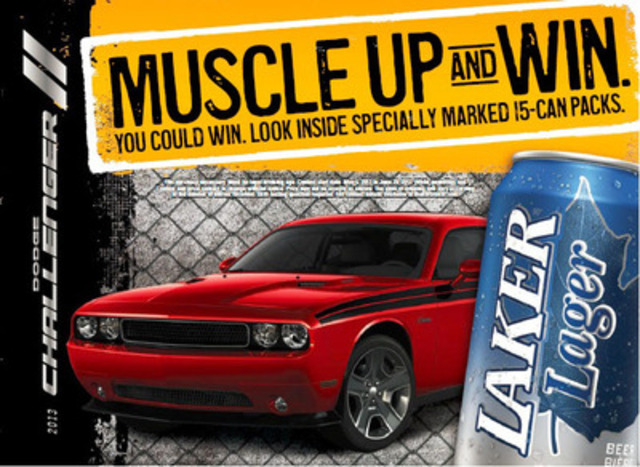 Muscle Up and Win a Dodge Challenger (CNW Group/Brick Brewing Co. Limited)