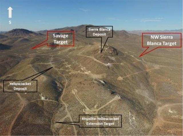 Figure 1. North Bullfrog 2016 Phase I Exploration Areas (CNW Group/Corvus Gold Inc.)