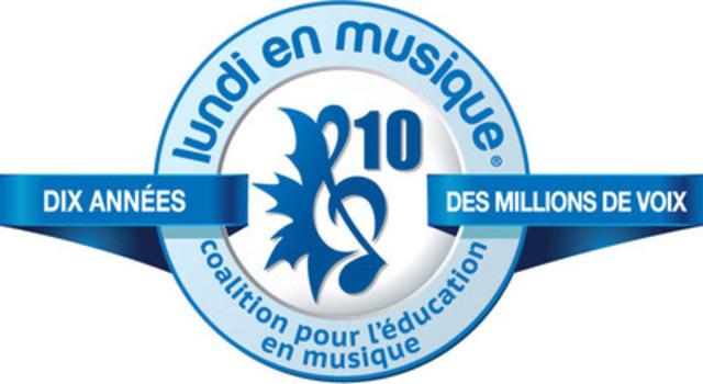 Coalition pour l'education en musique - Lundi En Musique logo. (Groupe CNW/Coalition pour l'education en musique)