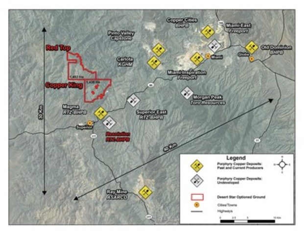 Figure 1. Location of the Copper King project. (CNW Group/Desert Star Resources Ltd.)