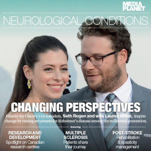 Seth Rogen and his wife Lauren Miller saw the ugly truth of Alzheimer's disease when Lauren's mother was diagnosed with early onset Alzheimer's. Together, they founded Hilarity for Charity to raise awareness about this degenerative disease and encourage further advocacy and research to find a cure. (CNW Group/Mediaplanet Ltd)