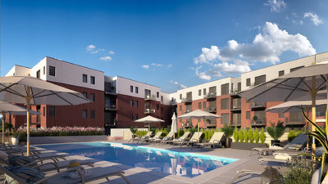 Le Meridiem in Longueuil, a Fonds immobilier de solidarité FTQ and Alternative Capital Group project (CNW ...