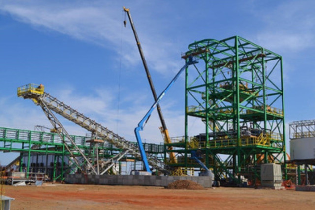 Photo 3: Beneficiation Building with Equipment Installed (CNW Group/Largo Resources Ltd.)