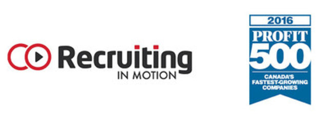 Recruiting in Motion and Profit 500 Logos (CNW Group/Recruiting in Motion)