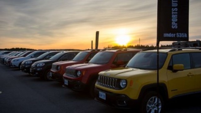 SUV under $35 waiting for test drives (CNW Group/Automobile Journalists Association of Canada)