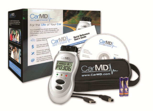 CarMD® Vehicle Health System(TM) Now Available in Canada (CNW Group/CarMD.com)